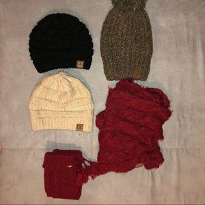BUNDLE. CC Beanies, Scarf, Boot Cuffs